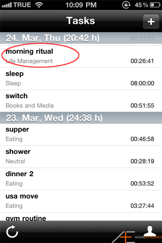 Using Toggl - Morning Ritual