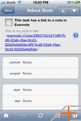 Evernote Note Links work on iOS as well.